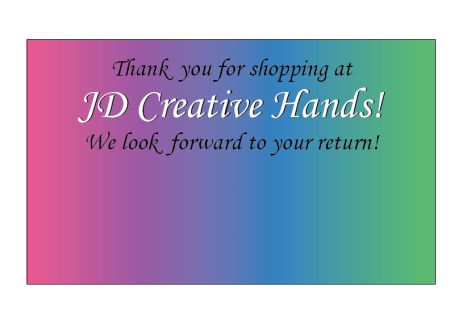 JD Creative Hands Note Pic