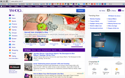 Featured on the YAHOO! Front Page!