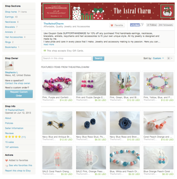 This is a preview of Stephanie's Etsy shop. Like her festive holiday banner? I made that one too!